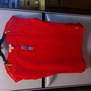 Women red  t-shirt